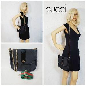 GUCCI Auth black Vintage crossbody  bag